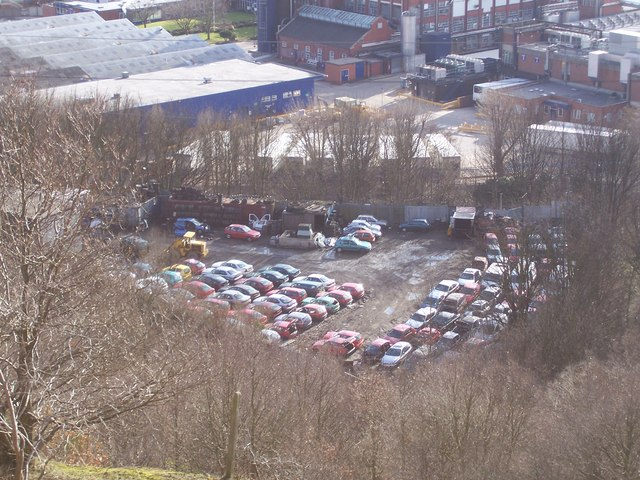 Car breaker's yard at Wardsend