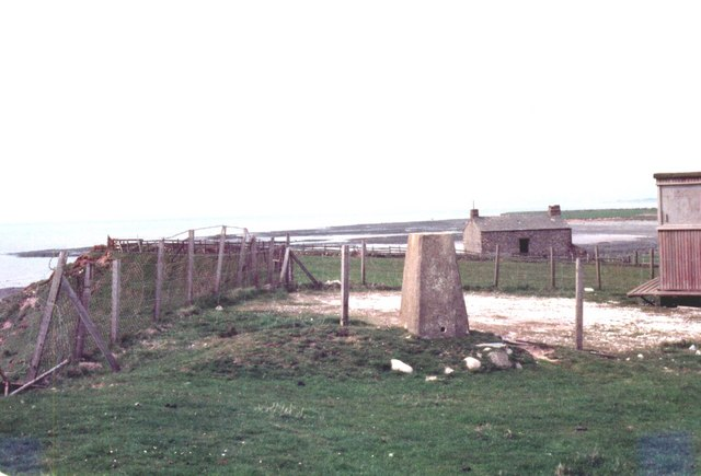 Selker Point coastguard huts and trig pillar