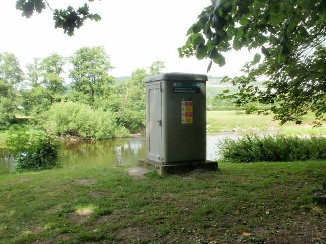 River monitoring station, Builth Wells