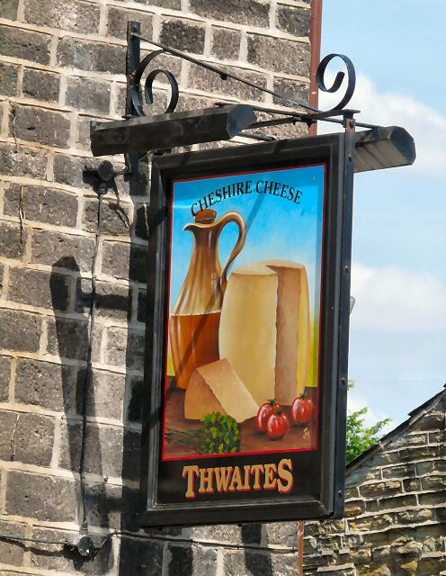 Sign for the Cheshire Cheese