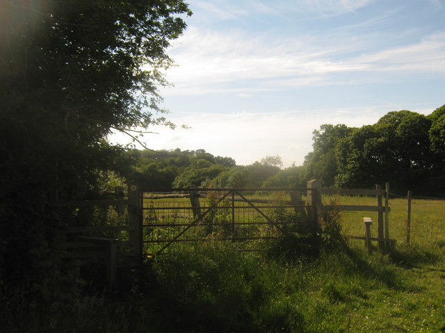 Footpath junction near Puckden Wood