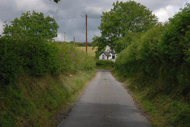 Minor road passing Cilcwm