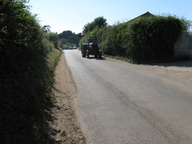 Vintage tractor at South Ambersham