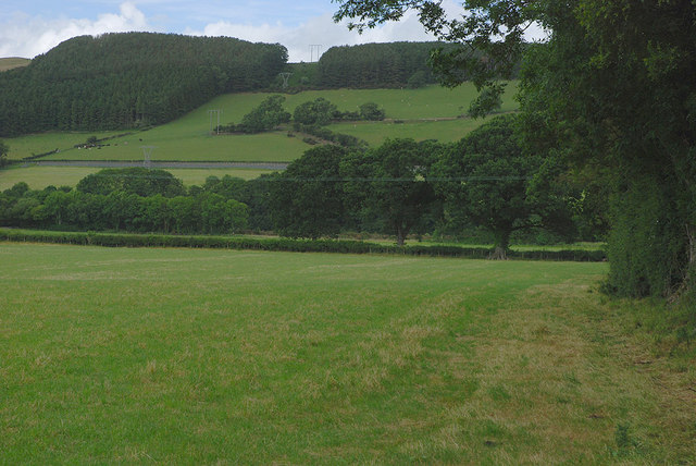 Field in the Ystwyth valley