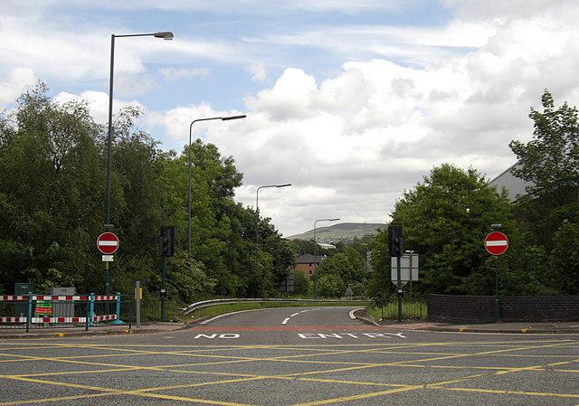 M67 off slip road
