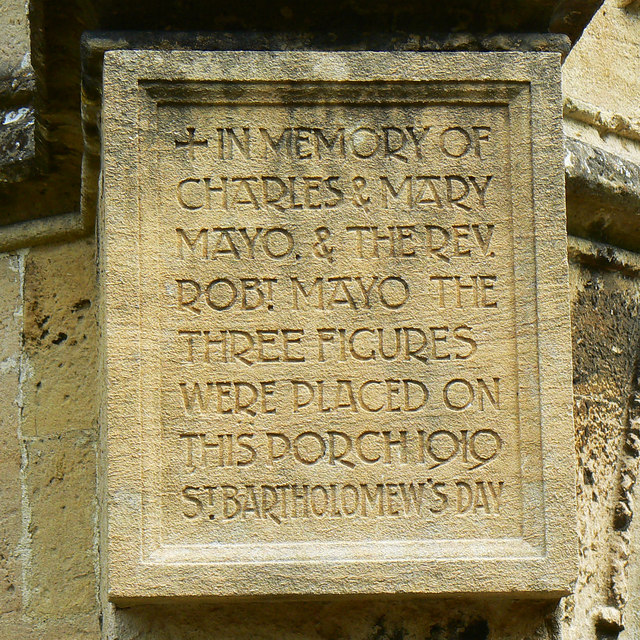 Plaque, St Bartholomew's Church, Corsham