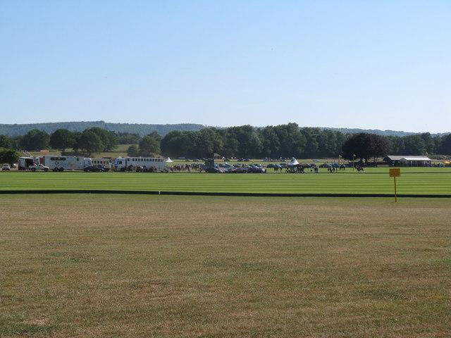 Polo match in progress near Selham