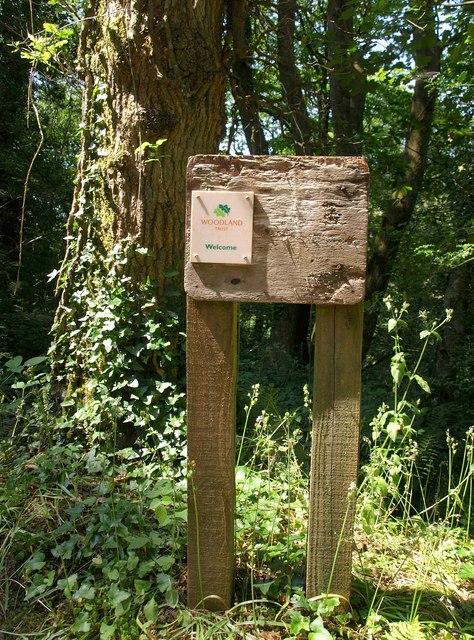 Notice board, Capton Wood