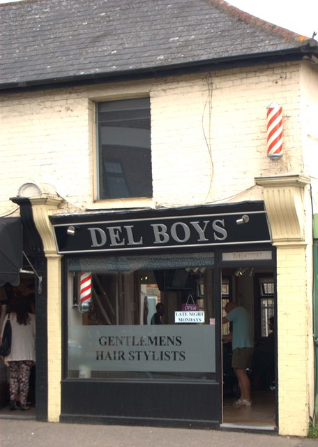 Traditional barber shop, Leigh-on-Sea, Essex