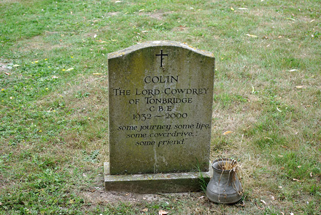 Colin Cowdrey's grave