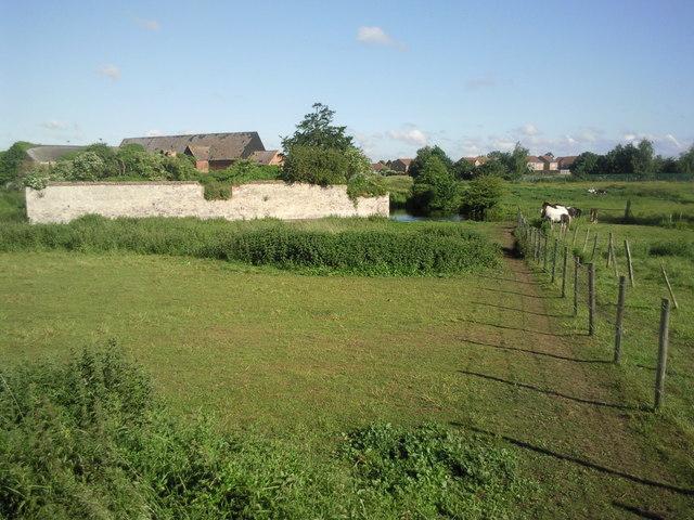 Howbury Manor from Moat Lane