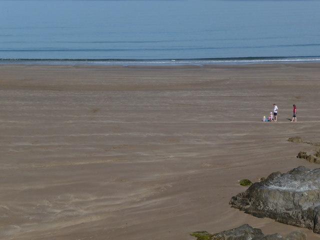 Empty beach at 9am, Bigbury on Sea