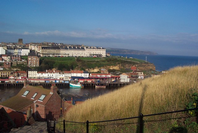 View across Whitby Harbour