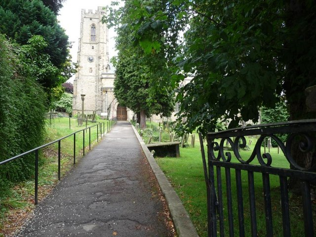 Path to St Mary the Virgin church
