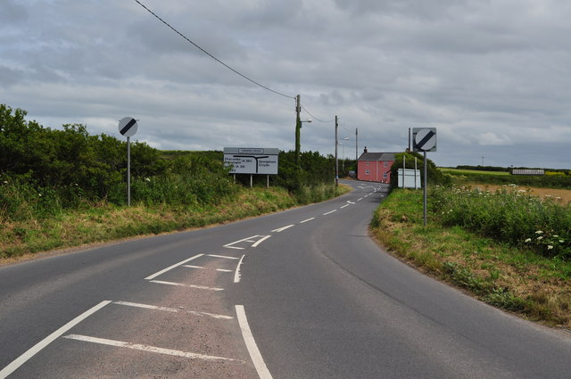 Approaching Turnpike Cross on the B3343