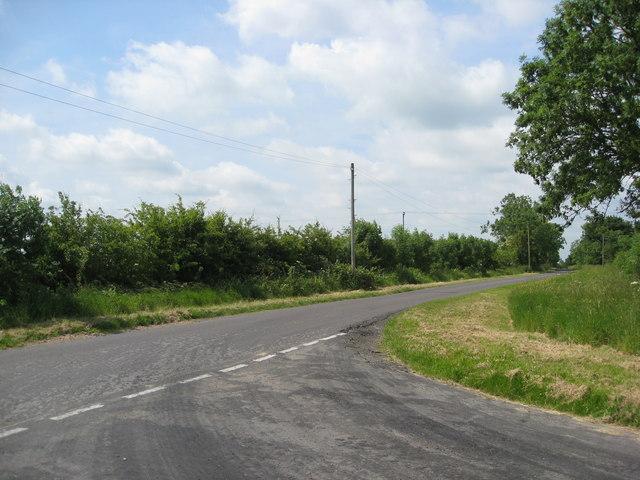 Lane junction near Red Leas Farm