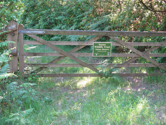Gated entrance to Sussex Wildlife Trust