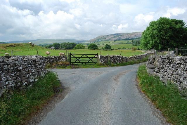 Rural lane junction