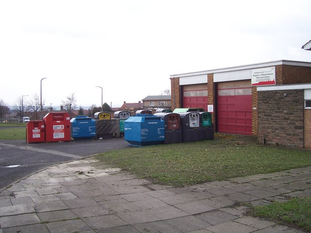 Oaks Lane recycling point