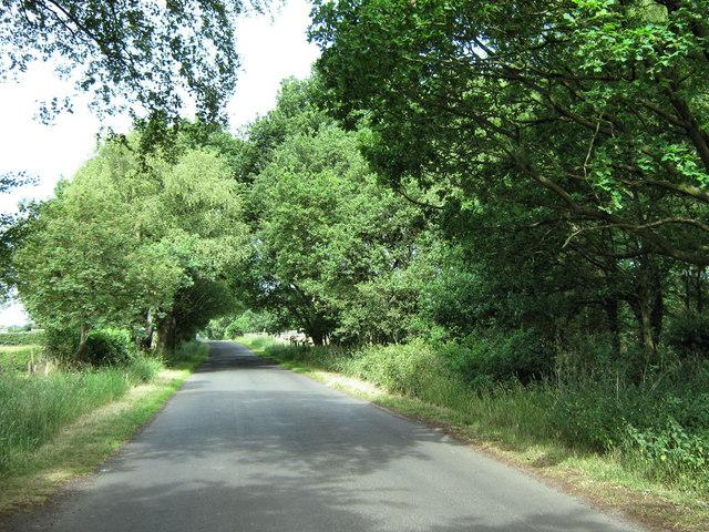 Leaving Brereton Heath village