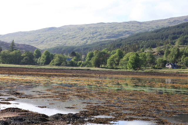 View towards Kingairloch House,