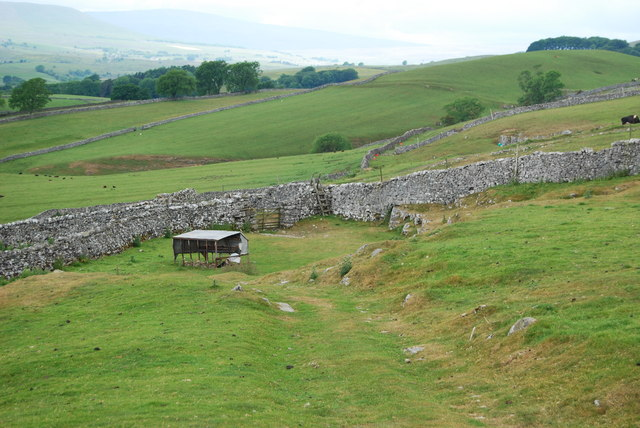 Stone dykes, stile and upland grazing