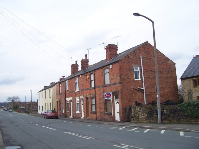 Terraced houses on Barnsley Road