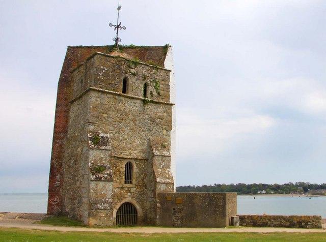 St Helen's Church and pillbox at Bembridge