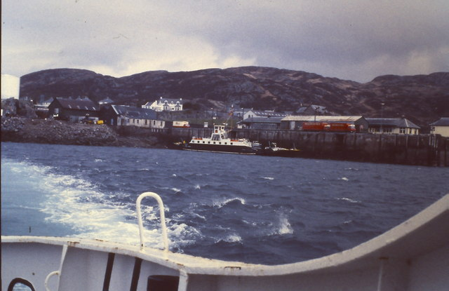Kyle of Lochalsh Railway Station and waterfront
