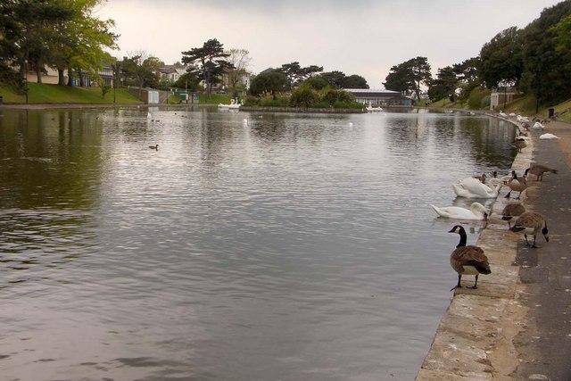 The boating lake at Ryde