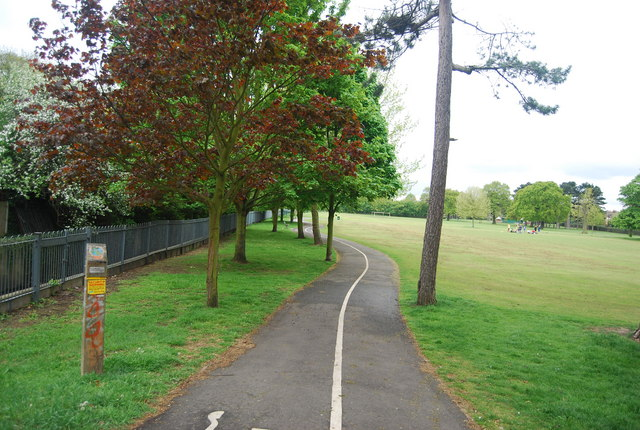 Cycleway across Cator Park
