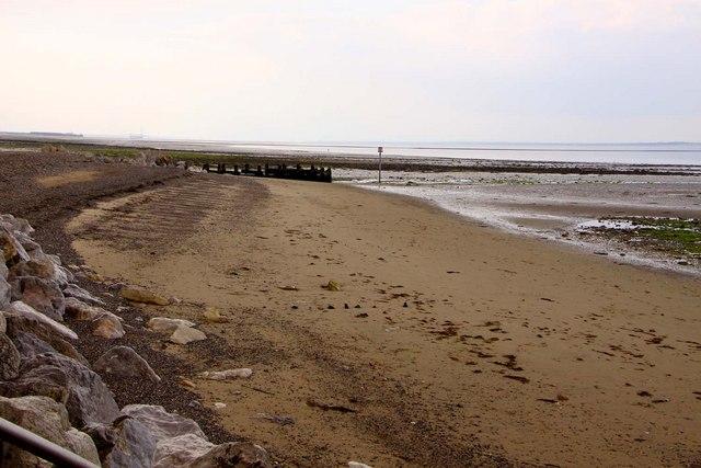 The beach towards Puckpool Point