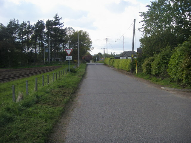 Road nearing the junction