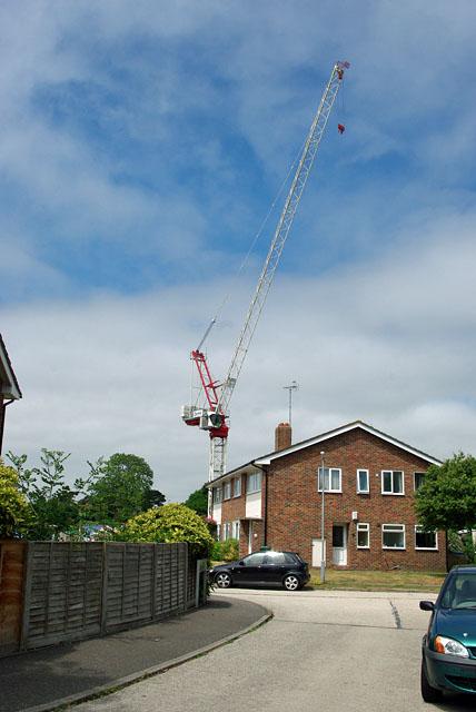 Crane over Elm Place