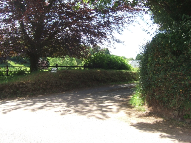 Entrance road to West Forde Farm