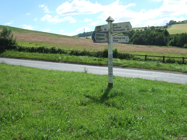 Sign at Coffintree Cross