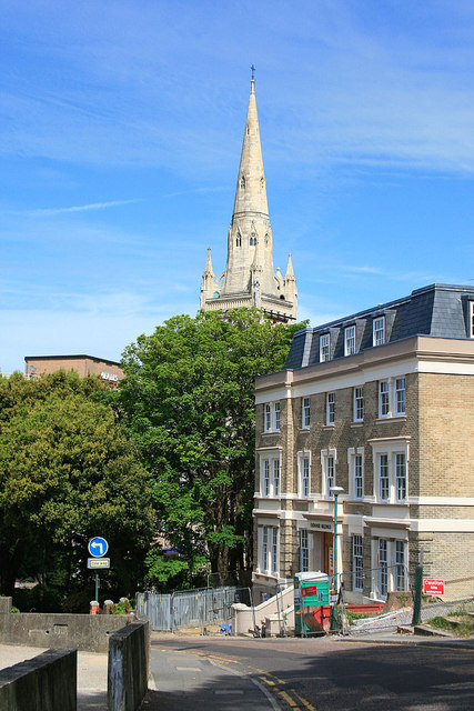 St Peter's from Upper Hinton Road