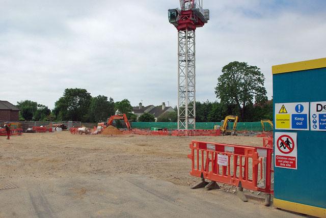 Building site on Station Road - Ash Lane corner