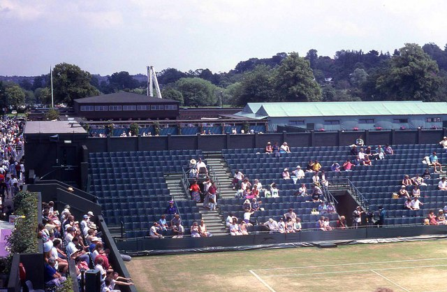Wimbledon 1991 - Seating on the old Court No 2