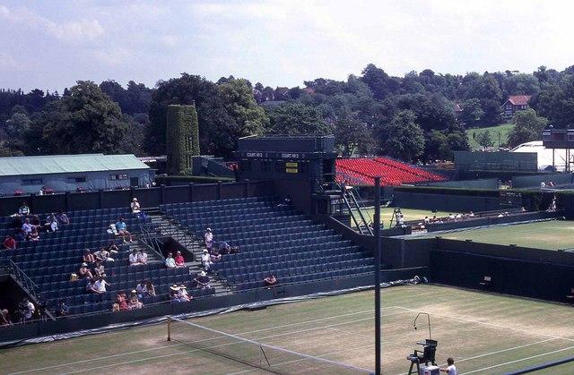 Wimbledon 1991 - Looking across Court No 2