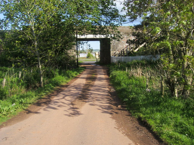 Under the railway to the A90