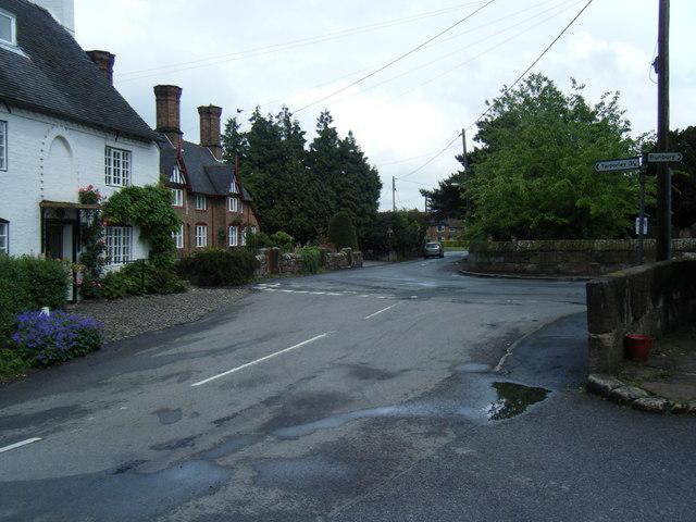 College Lane/Vicarage Lane junction, Bunbury