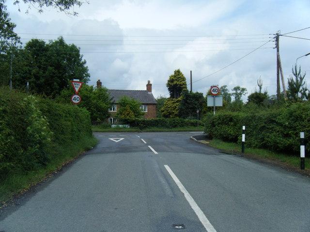 Bunbury Road/A51 junction