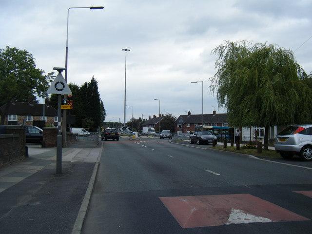 Mackets Lane/Lydiate Lane roundabout