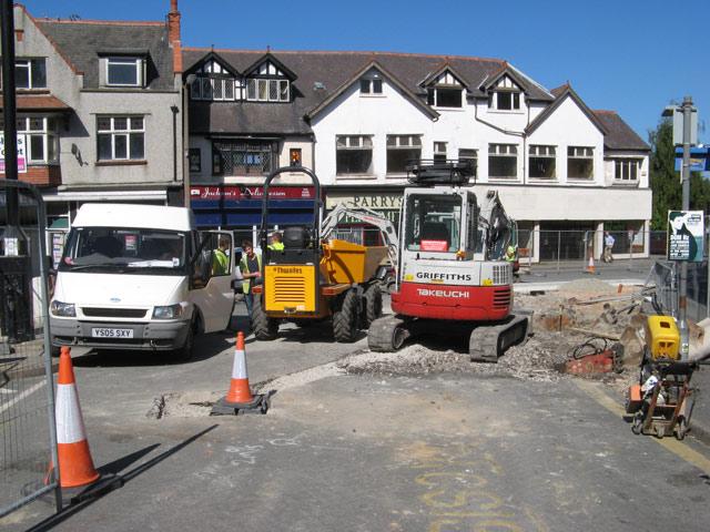 Paving works, Penrhyn Road