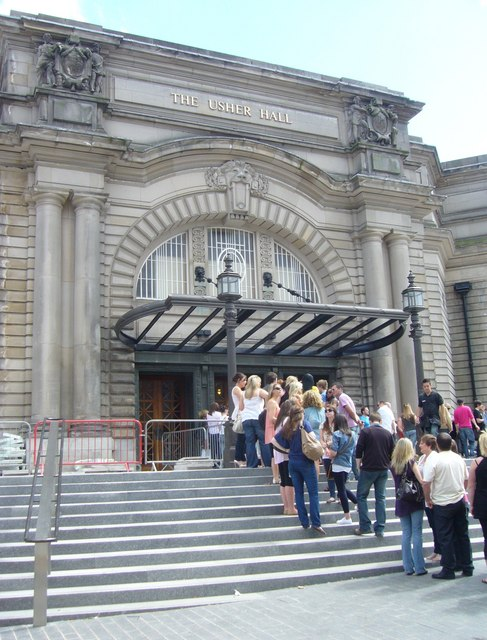 Queue for Usher Hall tickets
