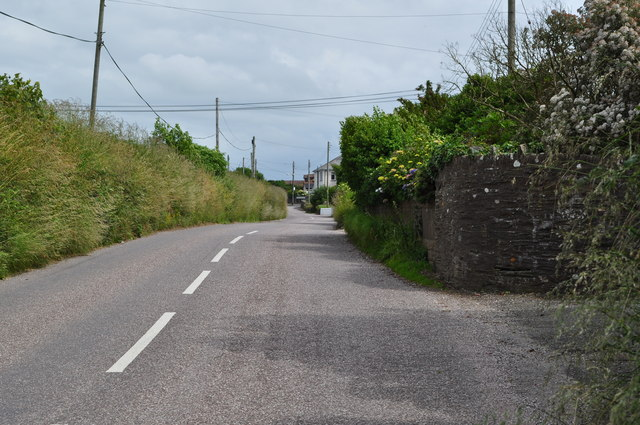 Mortehoe Station Road between Borough Cross and the B3343