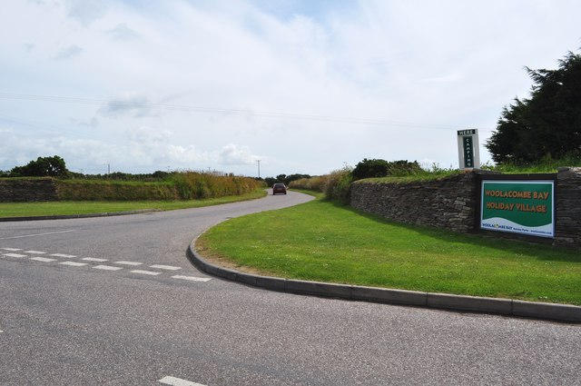An Entrance to Woolacombe Bay Holiday Village