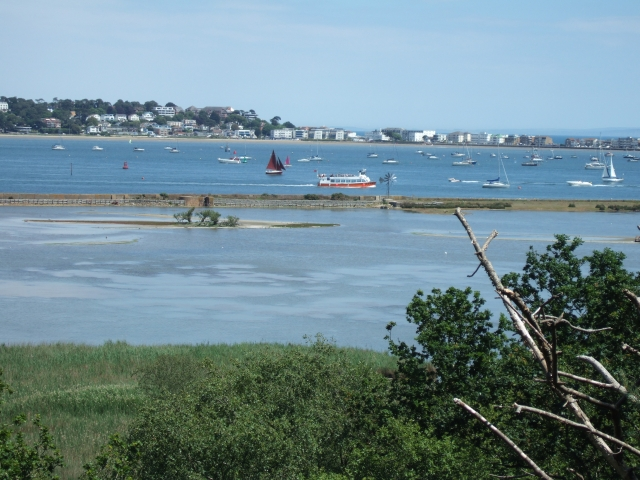 View from Cabbage Hill, Brownsea Island