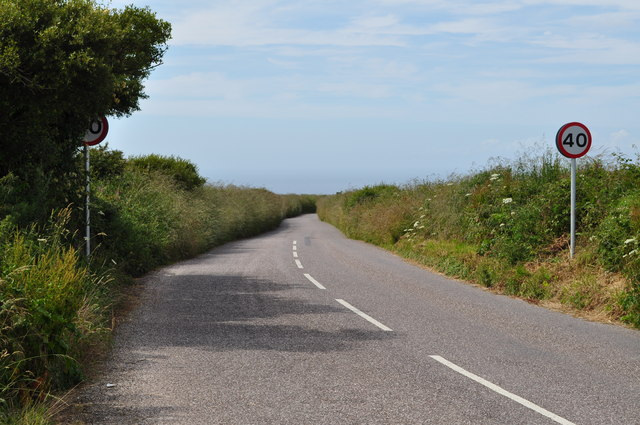 Mortehoe Station Road about 1.5 km from Mortehoe